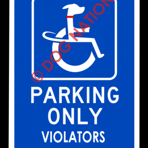 handicapped dog sign