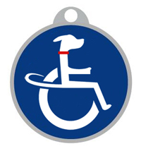handicapped dog tag
